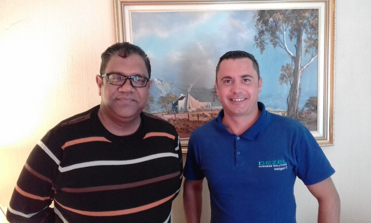Chris Moodley and Gerhard Aspeling (L to R) attended 'Create and Publish a WordPress Website'